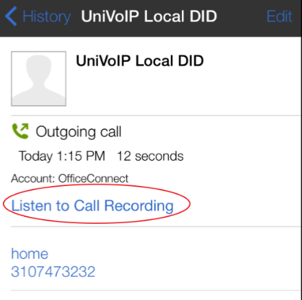 Recorded Calls (iPhone)