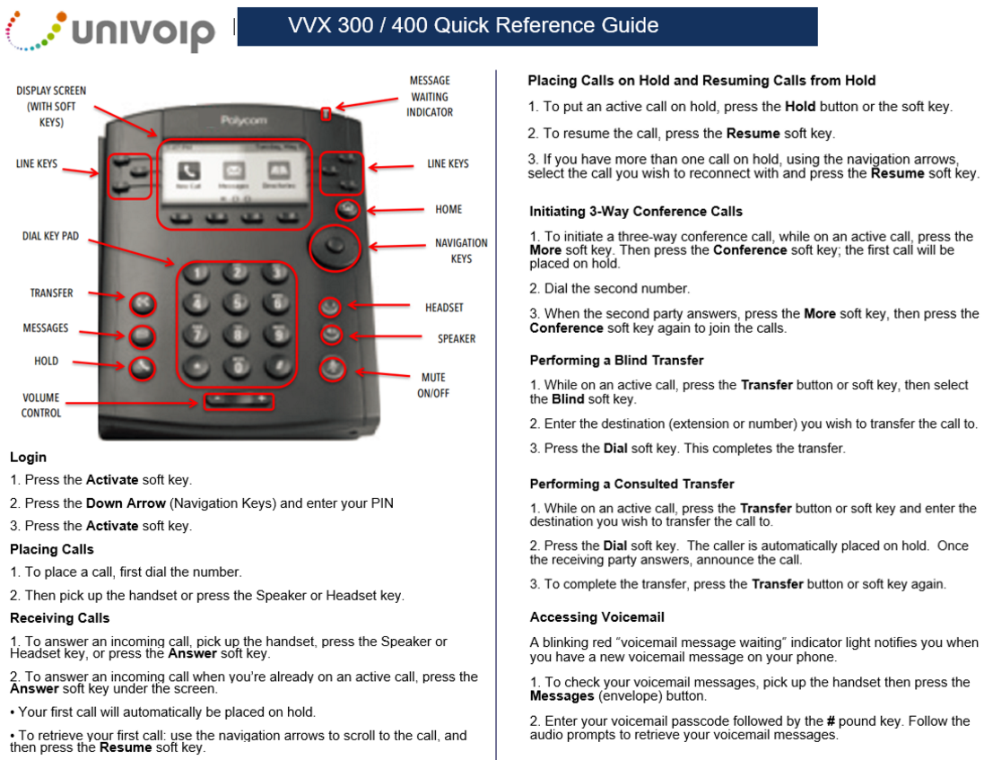polycom hd voice phone instructions